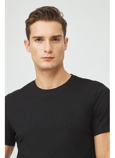 Avva E001000 Bisiklet Yaka Düz T-Shirt E001000 Siyah